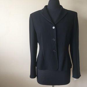 Ann Taylor Petites Black Suit Jacket Blazer 10P